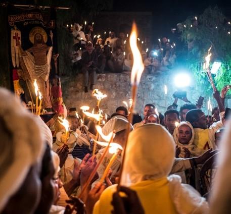 Les chretiens d'Ethiopie a Jerusalem.