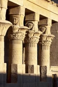 Aegypten, Assuan, rekonstruierter Isis-Tempel auf der Nil-Insel Philae