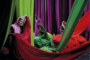 India, Rajasthan, Saree factory